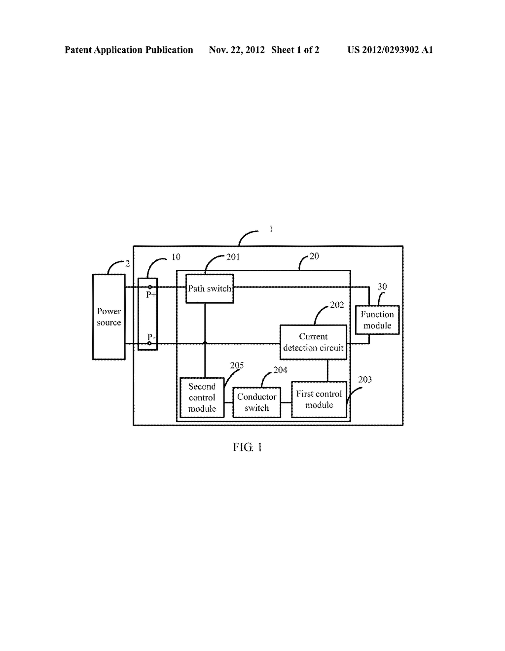 OVER-CURRENT PROTECTION CIRCUIT AND ELECTRONIC DEVICE WITH THE SAME - diagram, schematic, and image 02