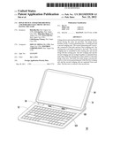 HINGE DEVICE AND KEYBOARD DOCK AND PORTABLE ELECTRONIC DEVICE HAVING THE     SAME diagram and image