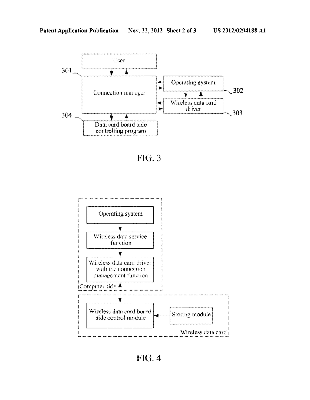 Wireless Data Card, Method and System for Communicating between Wireless     Data Card and Computer Side - diagram, schematic, and image 03