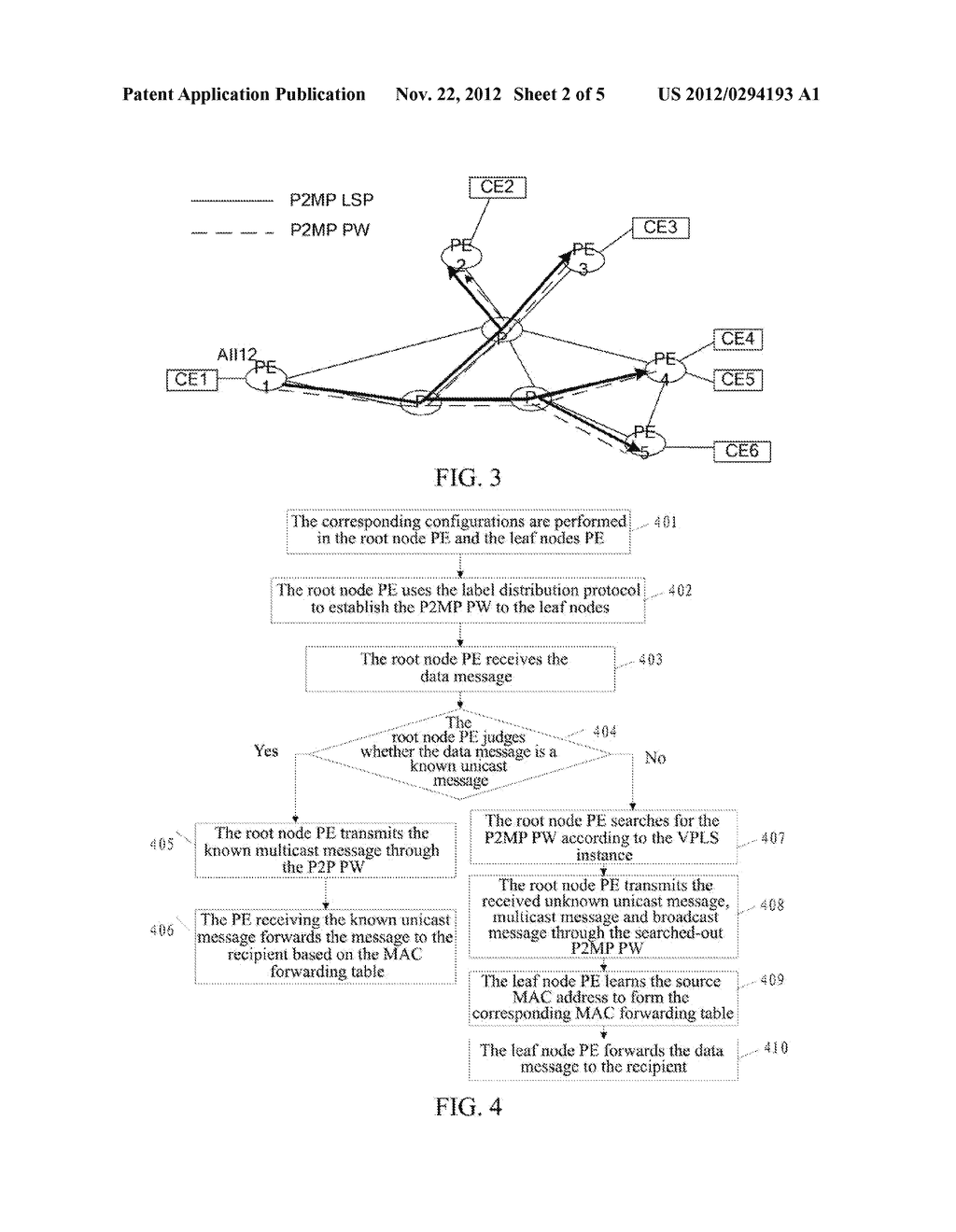 Method and System for Increasing Forwarding Efficiency of Virtual Private     LAN Service Network - diagram, schematic, and image 03