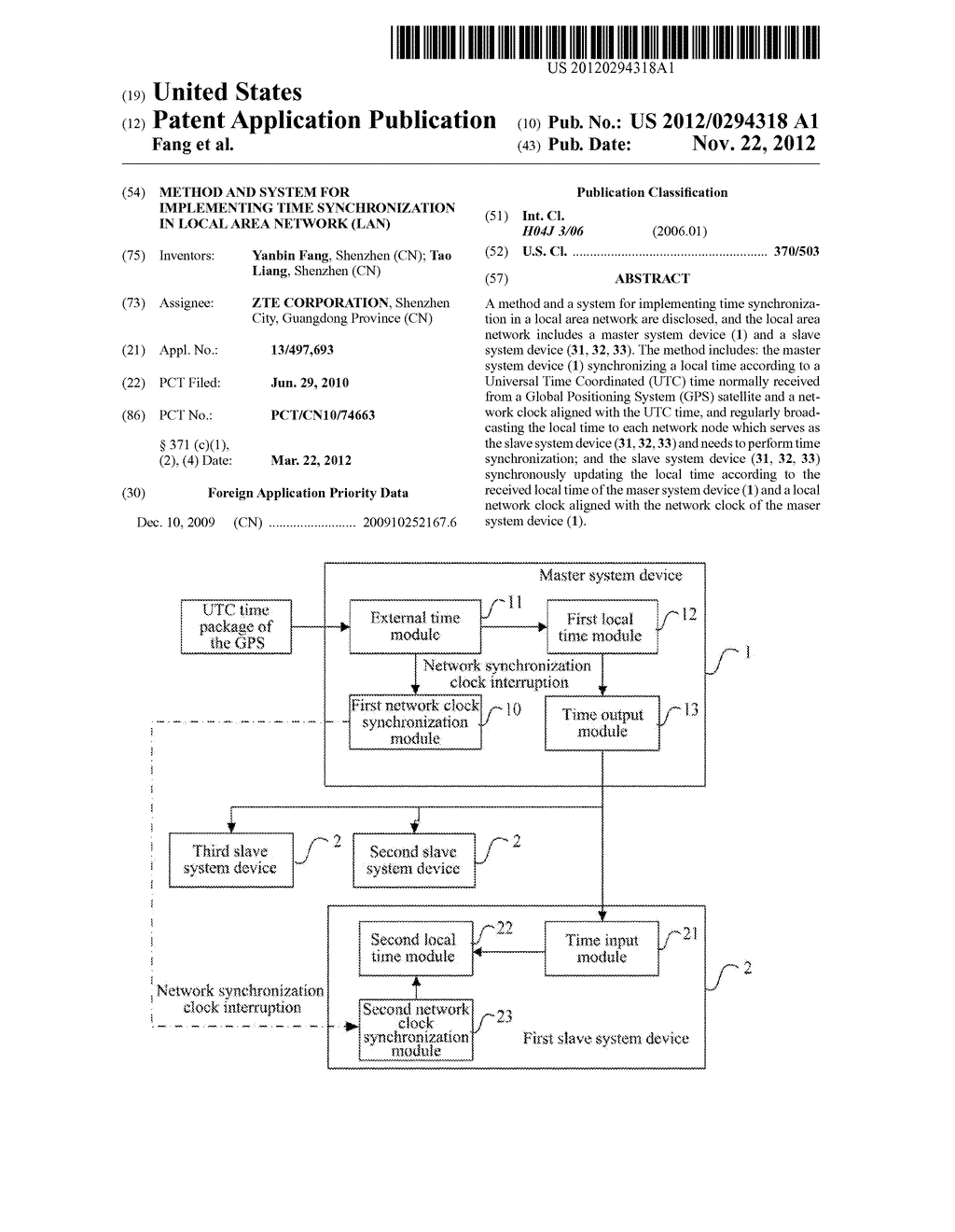 Method and System for Implementing Time Synchronization in Local Area     Network (LAN) - diagram, schematic, and image 01