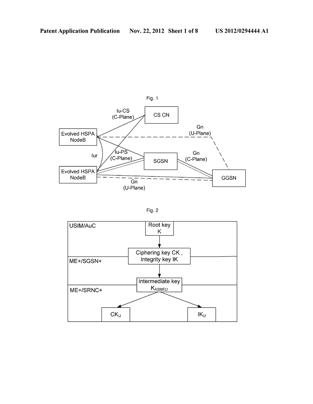 Method and system for establishing enhanced air interface key - diagram, schematic, and image 02