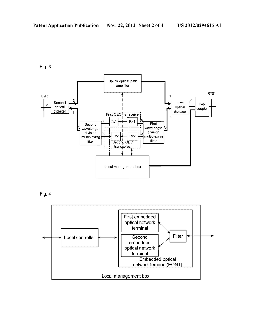 Long-distance box and method for processing uplink and downlink light     thereof - diagram, schematic, and image 03