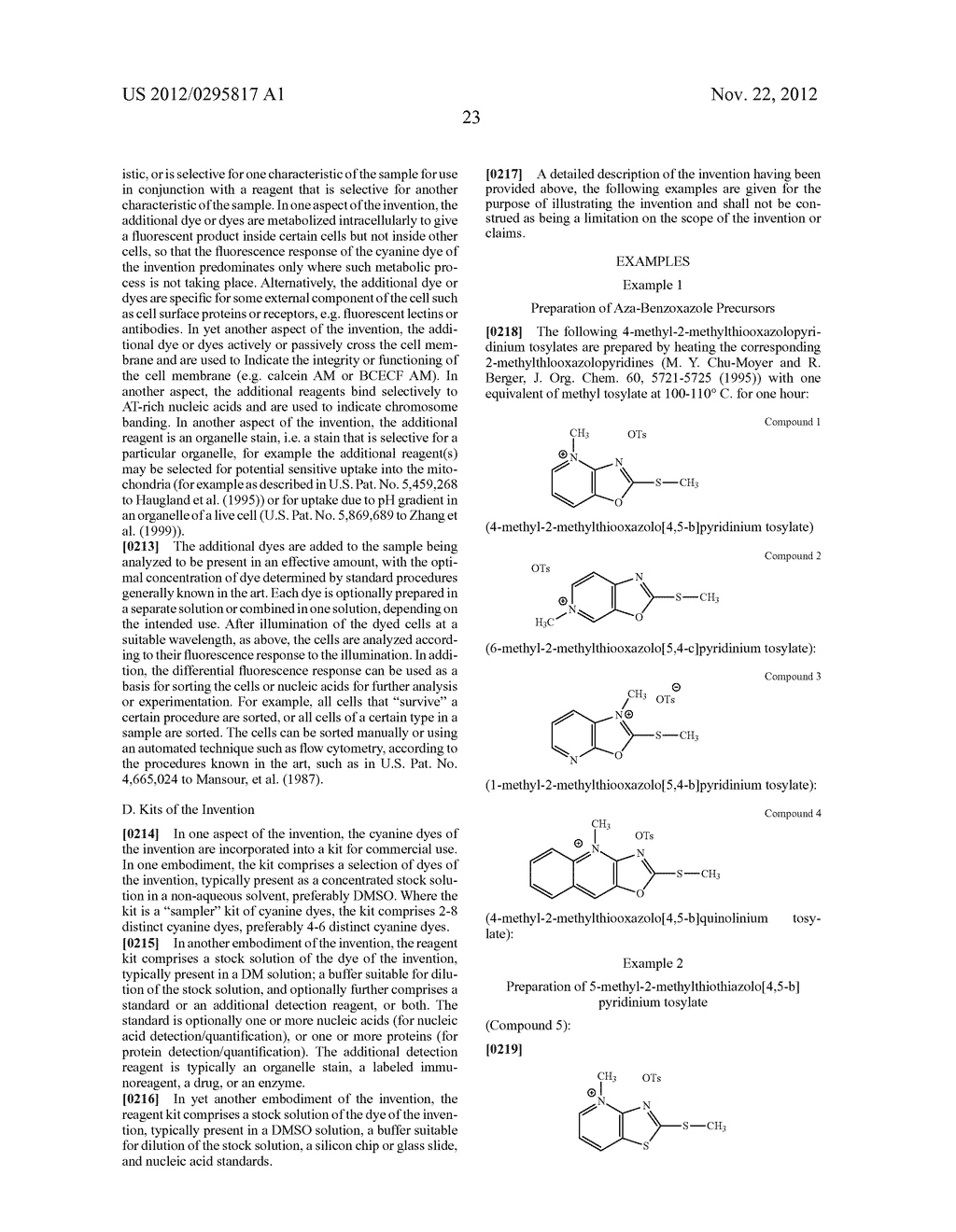 Aza-benzazolium Containing Cyanine Dyes - diagram, schematic, and image 28