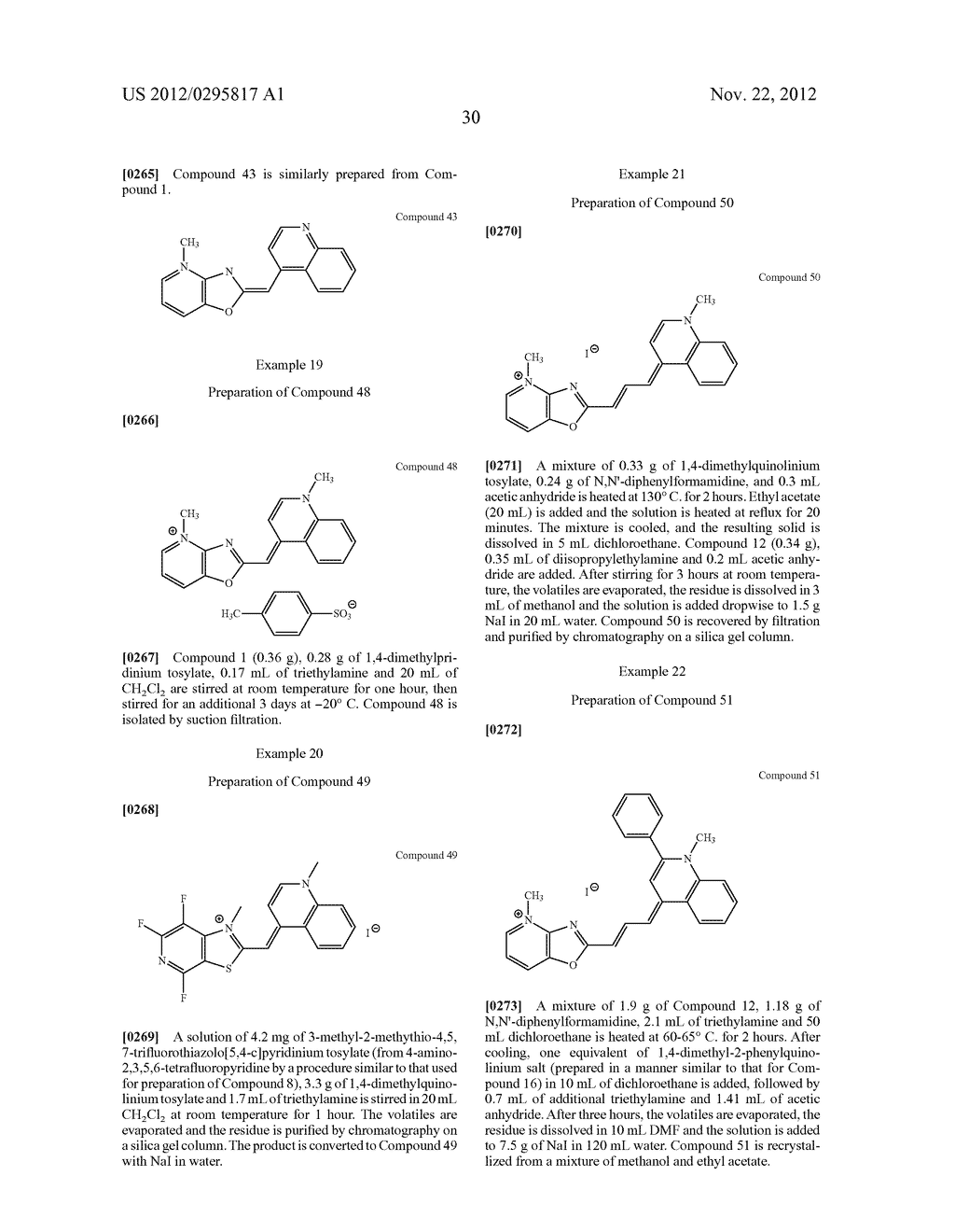 Aza-benzazolium Containing Cyanine Dyes - diagram, schematic, and image 35