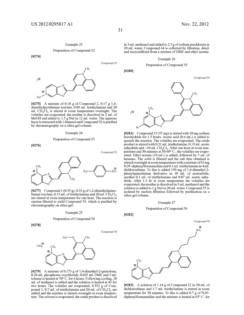 Aza-benzazolium Containing Cyanine Dyes - diagram, schematic, and image 36