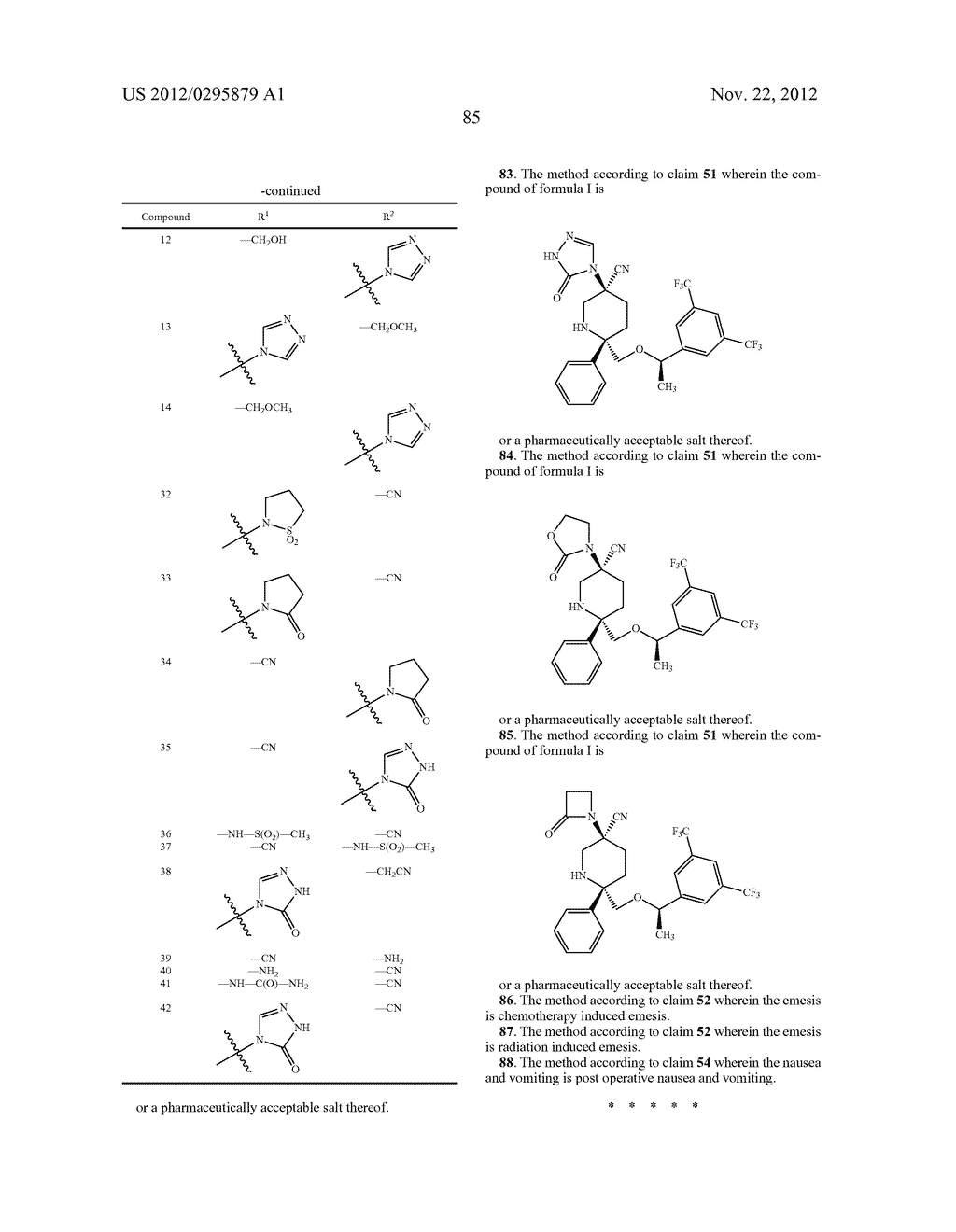 NK1 Antagonists - diagram, schematic, and image 86