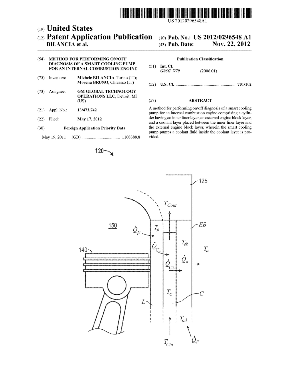 METHOD FOR PERFORMING ON/OFF DIAGNOSIS OF A SMART COOLING PUMP FOR AN     INTERNAL COMBUSTION ENGINE - diagram, schematic, and image 01