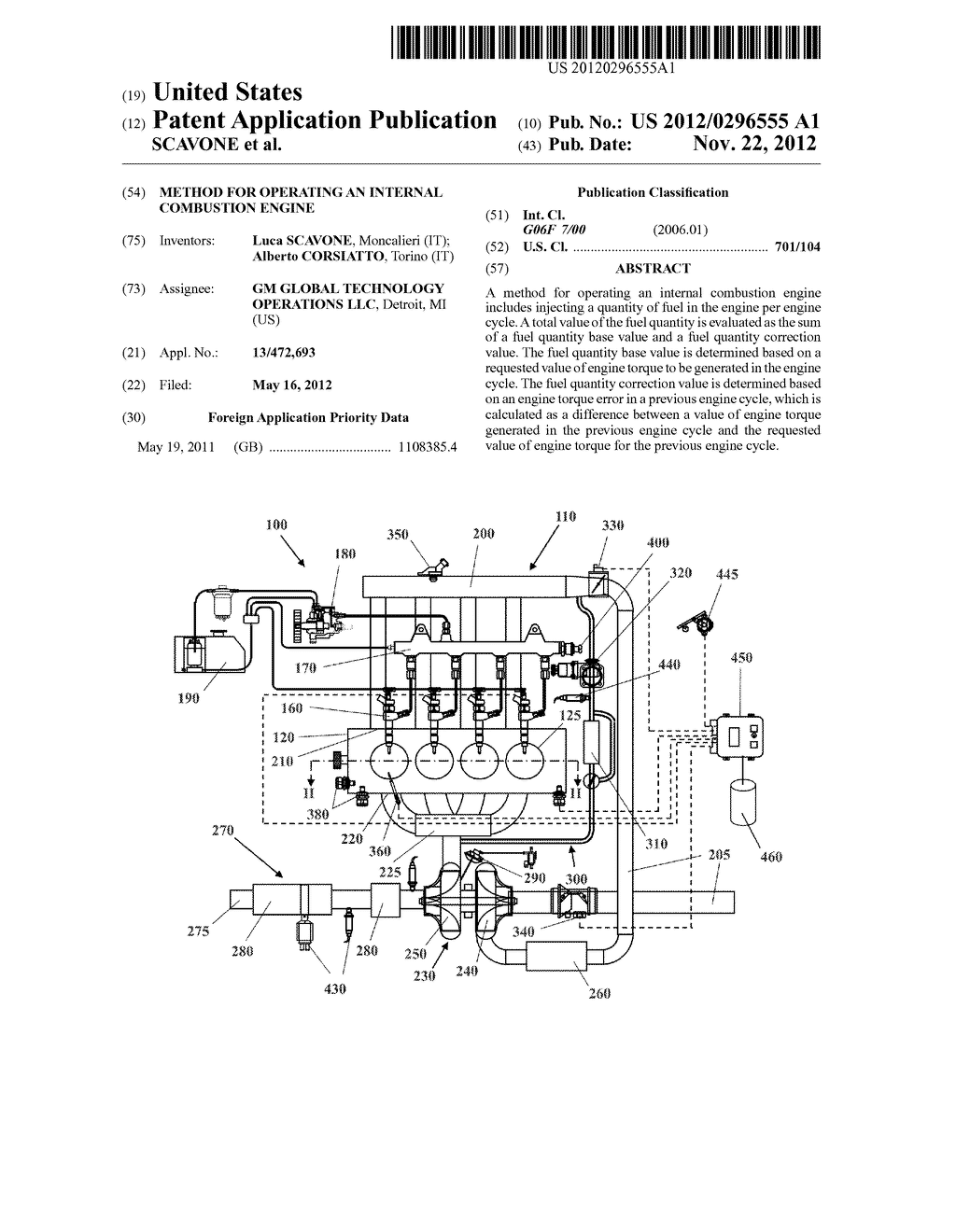 METHOD FOR OPERATING AN INTERNAL COMBUSTION ENGINE - diagram, schematic, and image 01