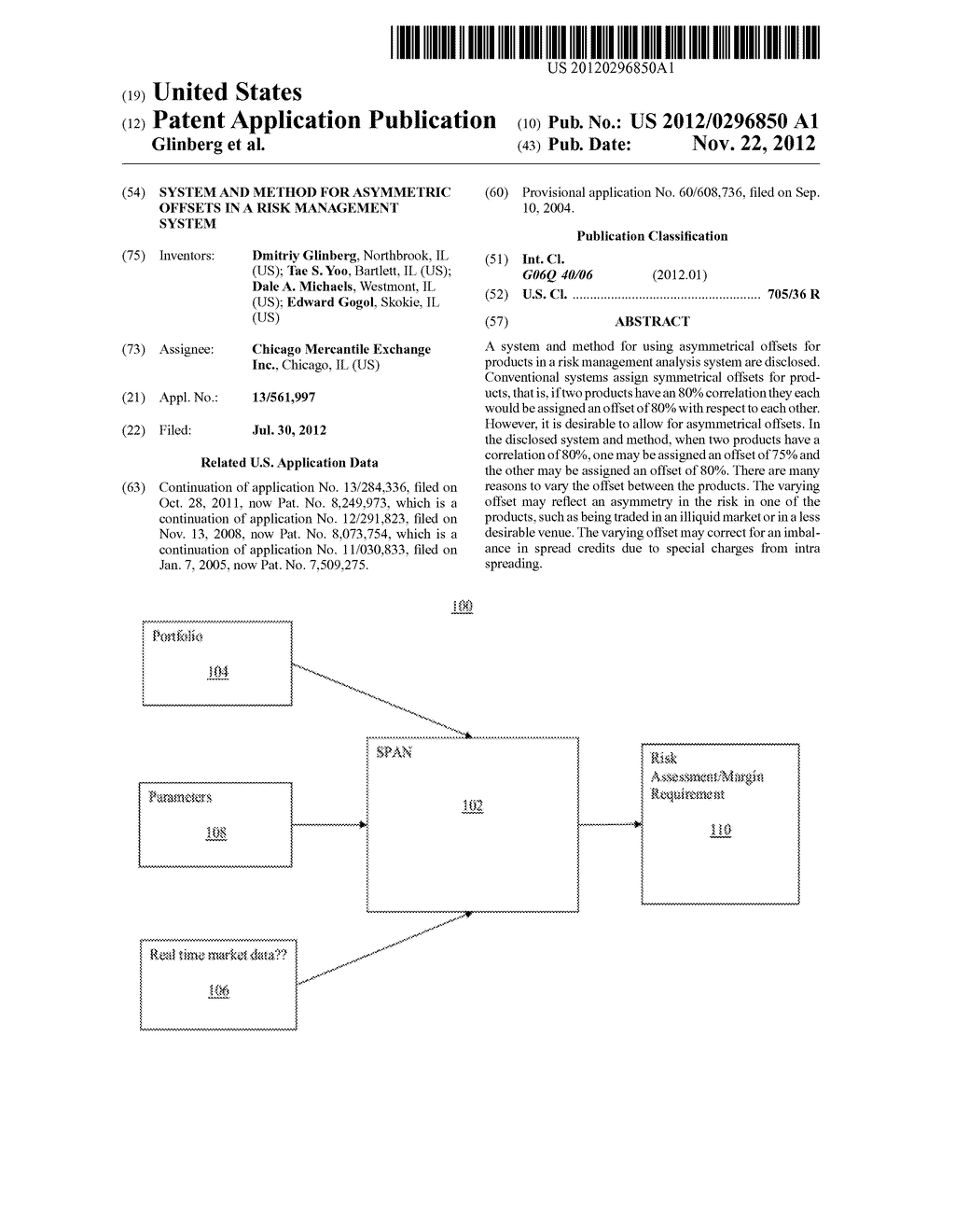 System and Method for Asymmetric Offsets in a Risk Management System - diagram, schematic, and image 01