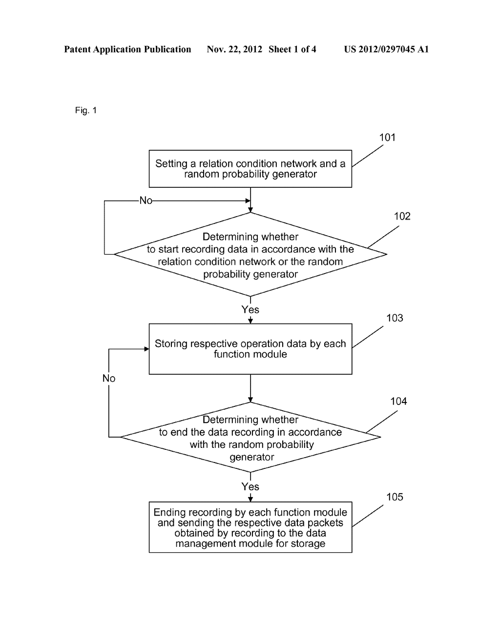 Method and device for recording data of terminal - diagram, schematic, and image 02