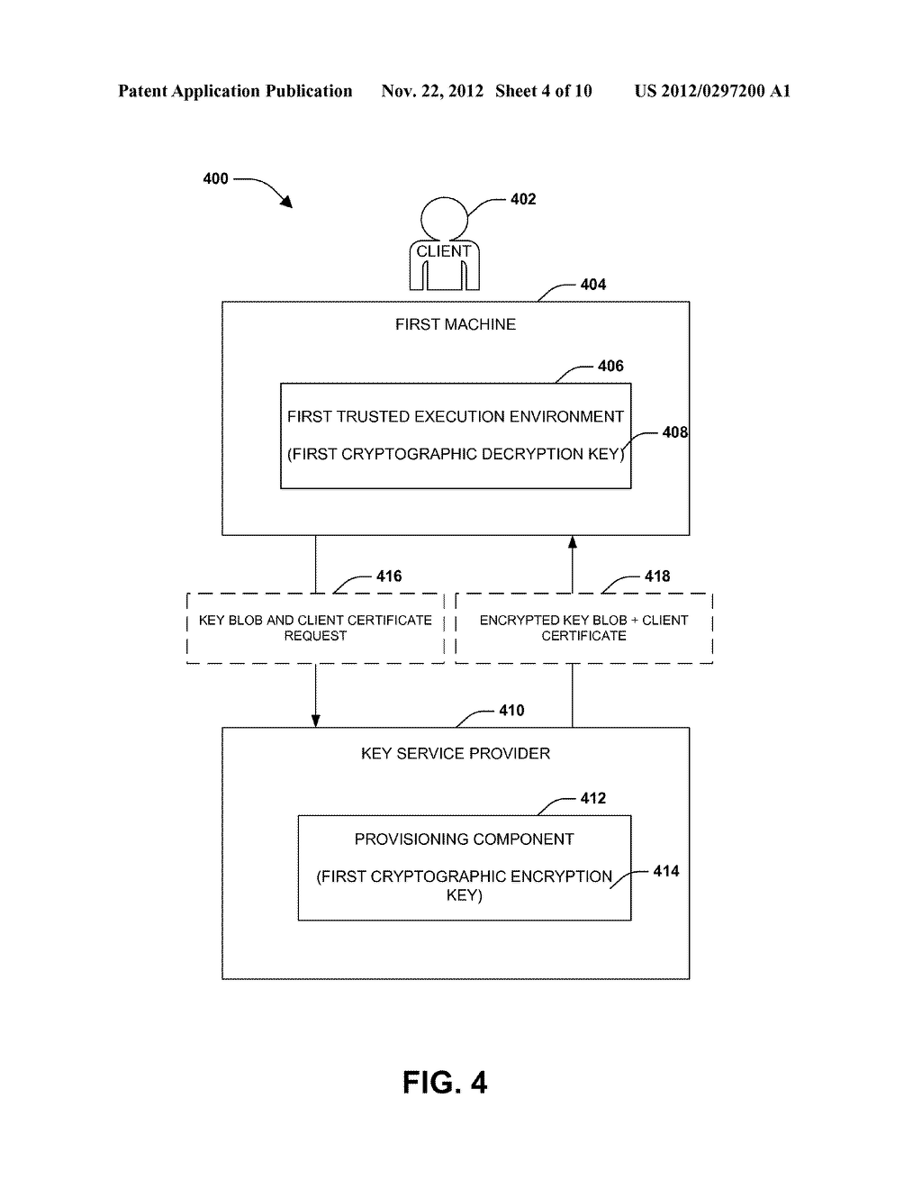 POLICY BOUND KEY CREATION AND RE-WRAP SERVICE - diagram, schematic, and image 05