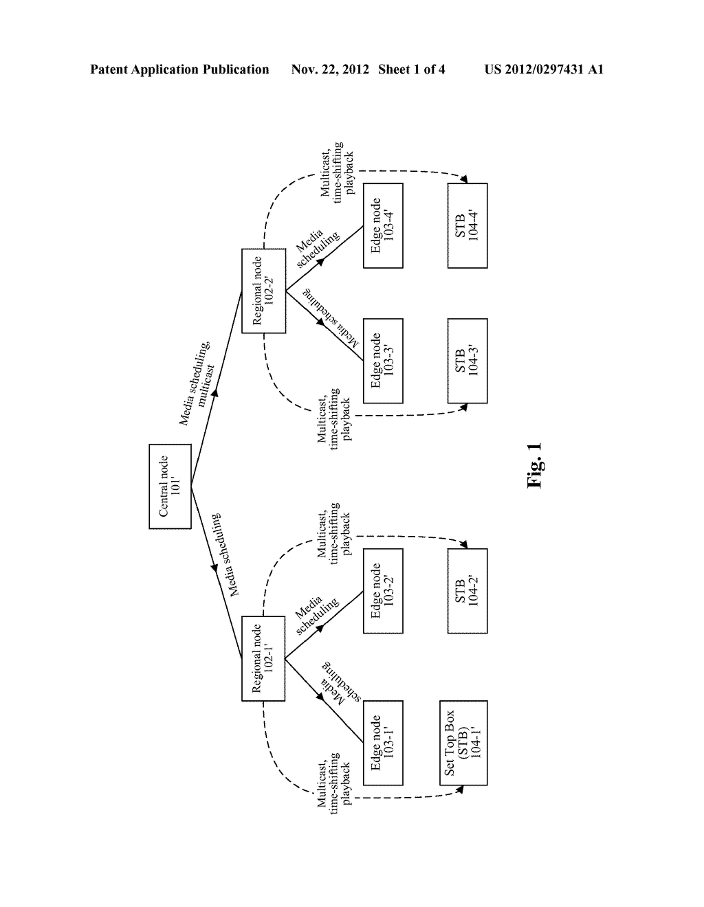 NETWORK-WIDE STORING AND SCHEDULING METHOD AND SYSTEM FOR INTERNET     PROTOCOL TELEVISION - diagram, schematic, and image 02