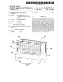CRIB WITH ADJUSTABLE HEIGHT MATTRESS diagram and image