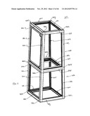 MODULAR COOLED PRODUCT MERCHANDIZING UNITS, KITS, AND METHODS OF     MANUFACTURE diagram and image