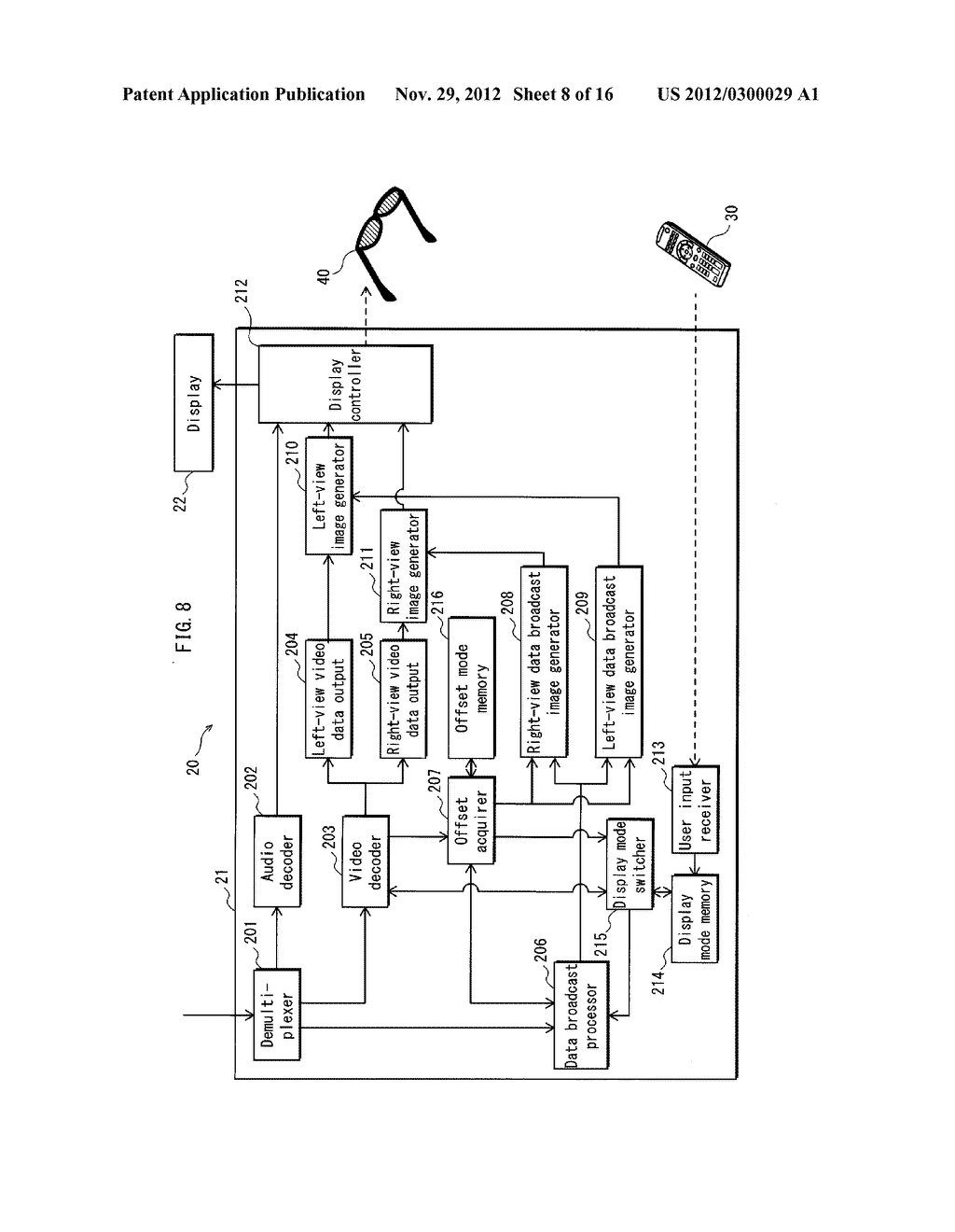 VIDEO PROCESSING DEVICE, TRANSMISSION DEVICE, STEREOSCOPIC VIDEO VIEWING     SYSTEM, VIDEO PROCESSING METHOD, VIDEO PROCESSING PROGRAM AND INTEGRATED     CIRCUIT - diagram, schematic, and image 09