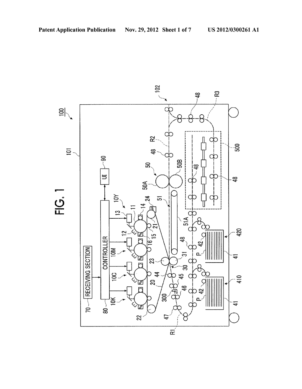 RECORDING MATERIAL TRANSPORTING DEVICE AND IMAGE FORMING APPARATUS - diagram, schematic, and image 02