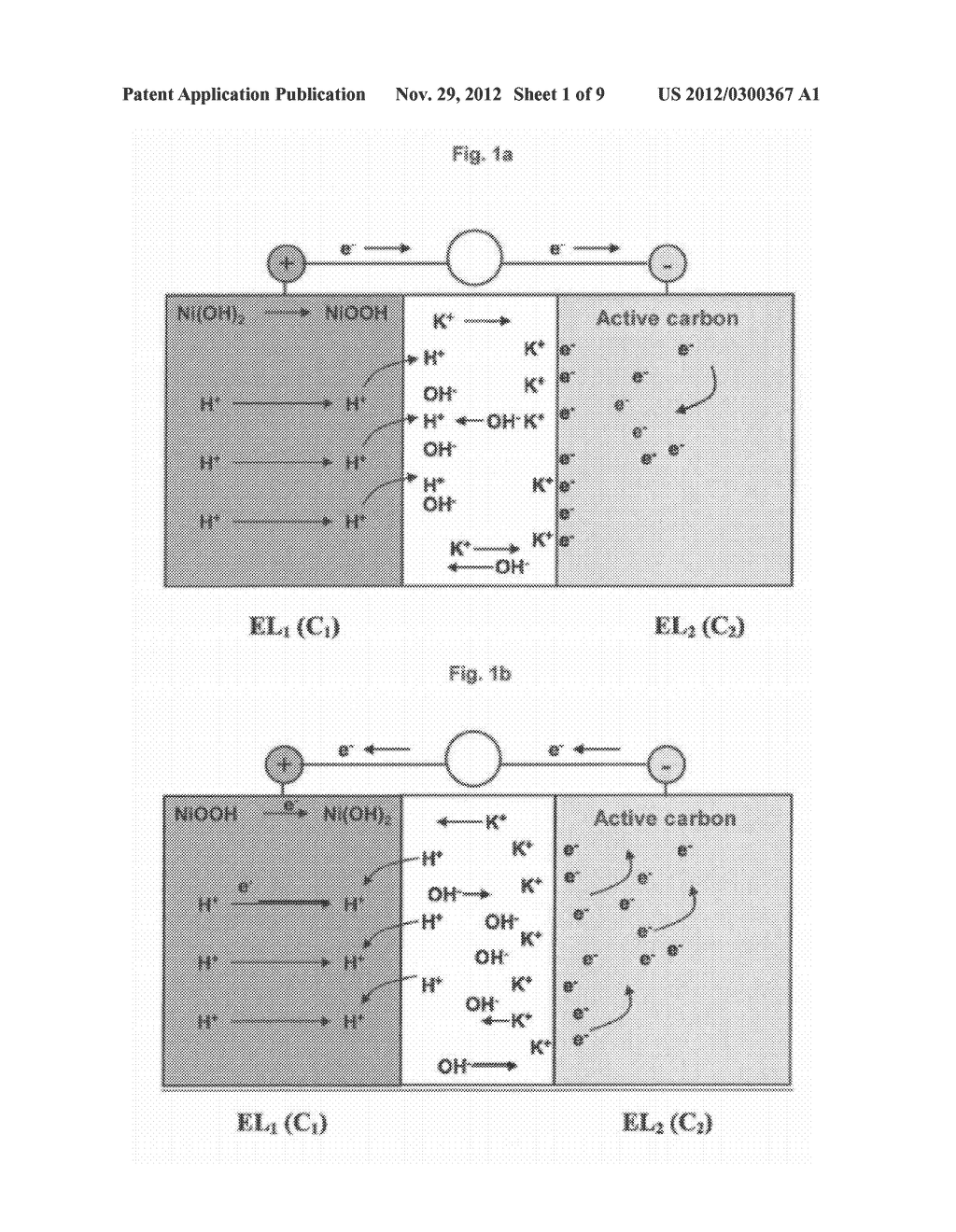 NEGATIVE ELECTRODE FOR ASYMMETRIC SUPERCAPACITOR HAVING A POSITIVE     ELECTRODE BASED ON NICKEL HYDROXIDE AND AN ALKALINE ELECTROLYTE AND     METHOD FOR MAKING SAME - diagram, schematic, and image 02