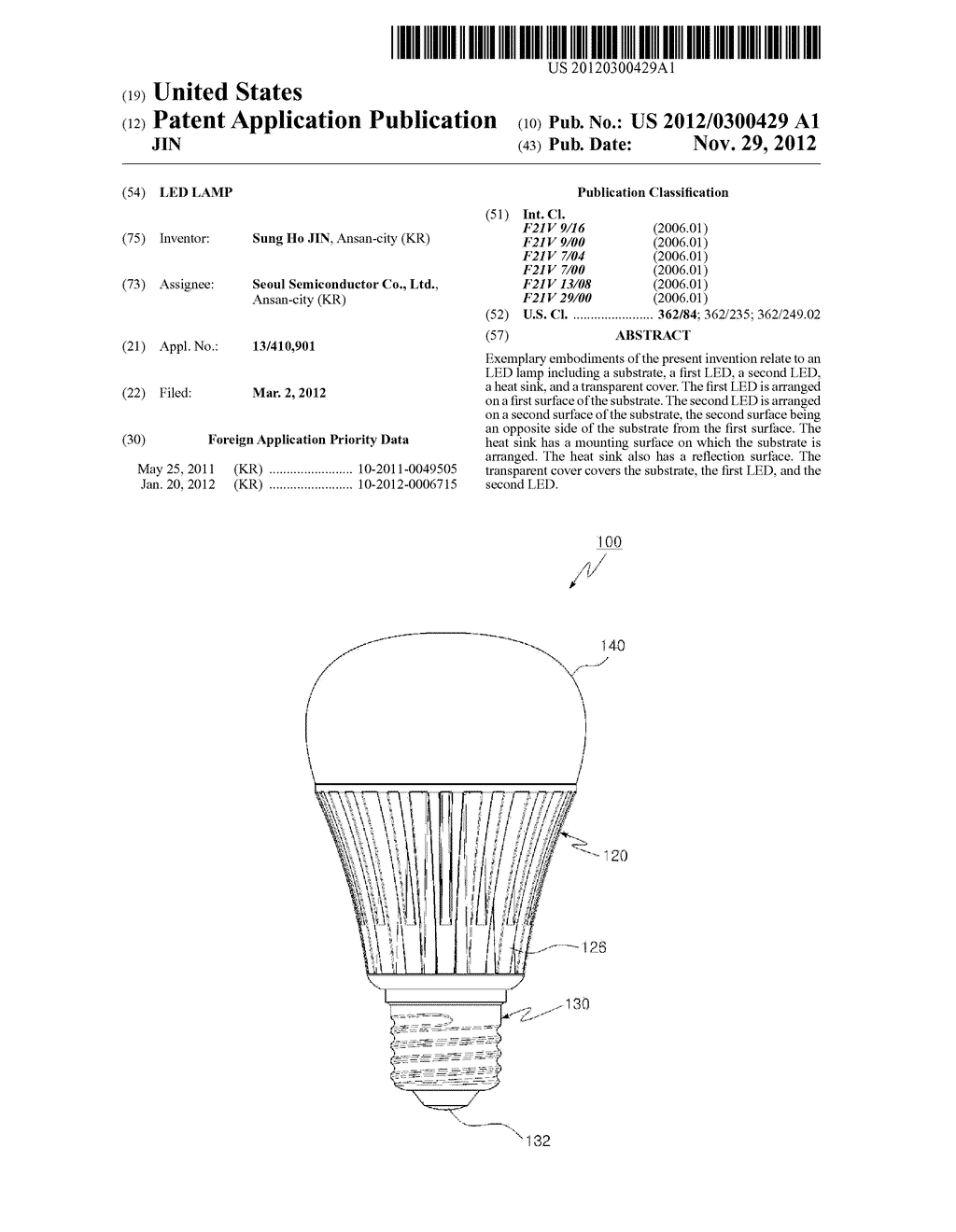 LED LAMP - diagram, schematic, and image 01