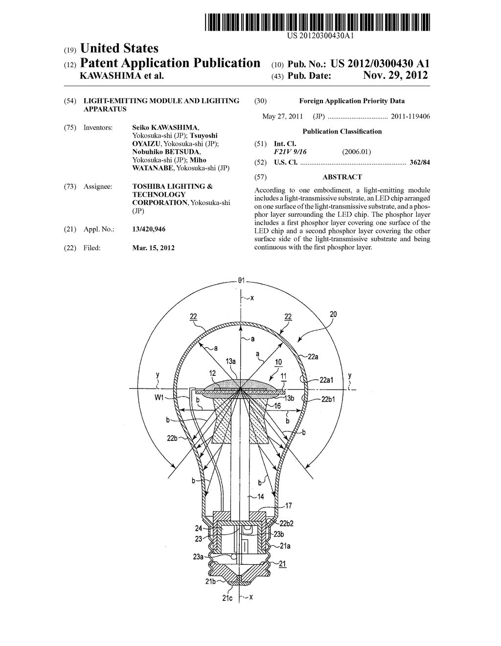 LIGHT-EMITTING MODULE AND LIGHTING APPARATUS - diagram, schematic, and image 01