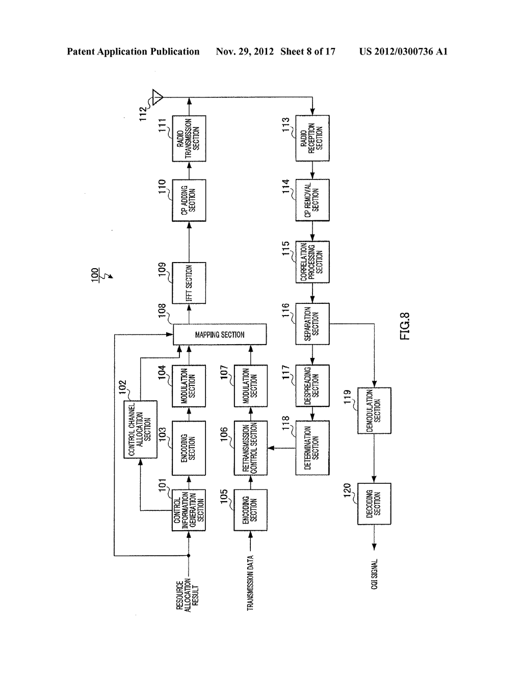 RADIO COMMUNICATION DEVICE AND RESPONSE SIGNAL DIFFUSION METHOD - diagram, schematic, and image 09