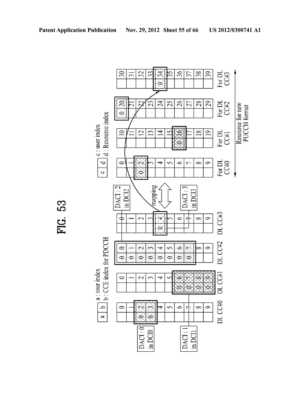 METHOD AND APPARATUS FOR TRANSMITTING CONTROL INFORMATION IN A WIRELESS     COMMUNICATION SYSTEM - diagram, schematic, and image 56