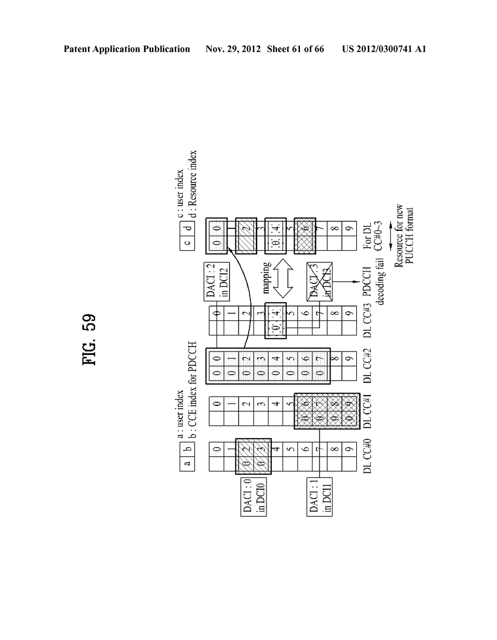 METHOD AND APPARATUS FOR TRANSMITTING CONTROL INFORMATION IN A WIRELESS     COMMUNICATION SYSTEM - diagram, schematic, and image 62