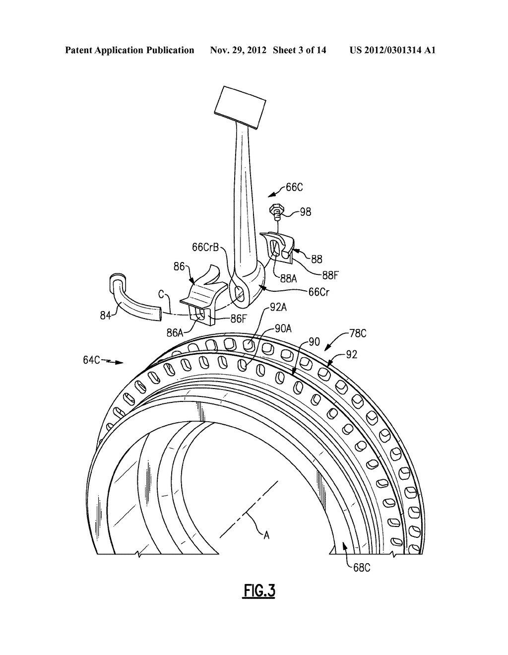 Hybrid Rotor Disk Assembly With A Ceramic Matrix Composite Airfoil Engine Diagram For Gas Turbine Schematic And Image 04