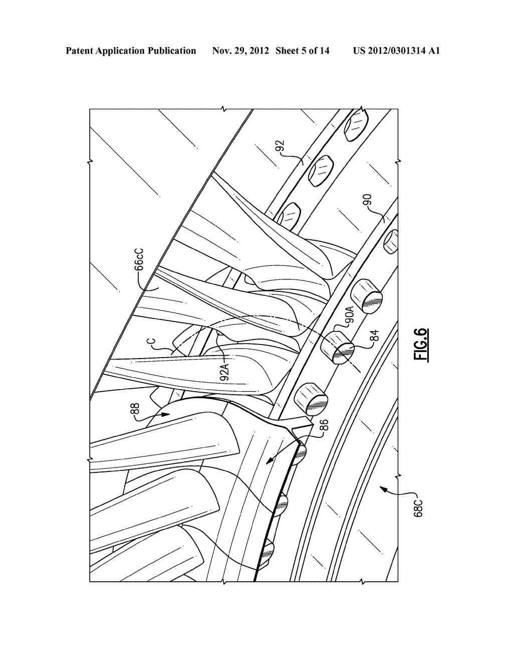 HYBRID ROTOR DISK ASSEMBLY WITH A CERAMIC MATRIX COMPOSITE AIRFOIL FOR A  GAS TURBINE ENGINE - diagram, schematic, and image 06