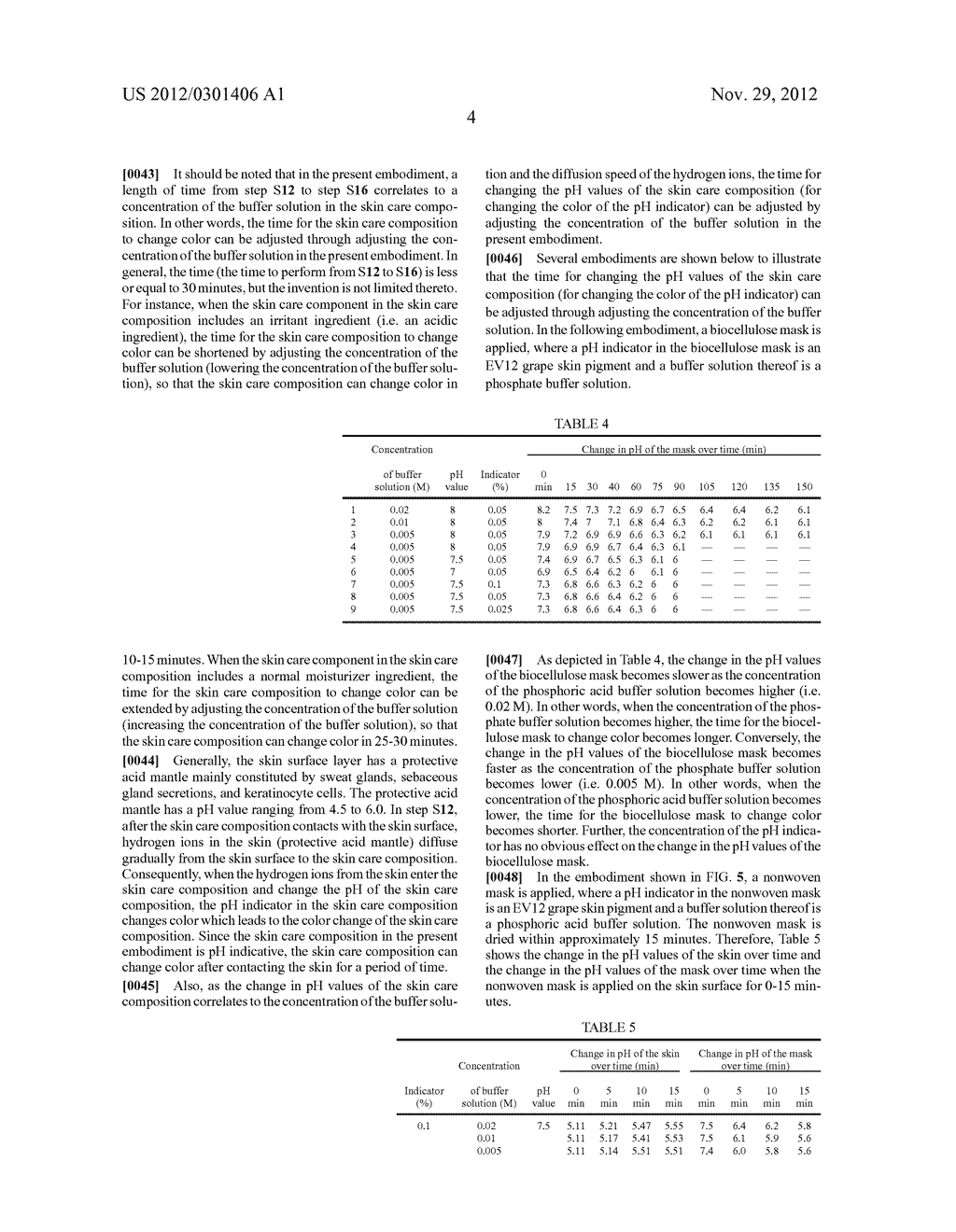 SKIN CARE COMPOSITION WITH INDICATING FUNCTION AND METHOD OF USING THE     SAME - diagram, schematic, and image 06