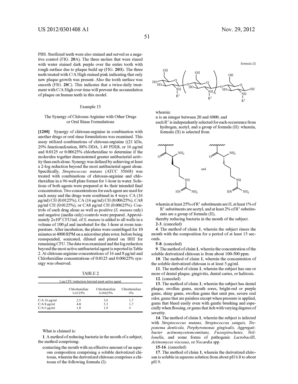 ORAL CARE METHODS AND COMPOSITIONS UTILIZING CHITOSAN-DERIVATIVE COMPOUNDS - diagram, schematic, and image 72