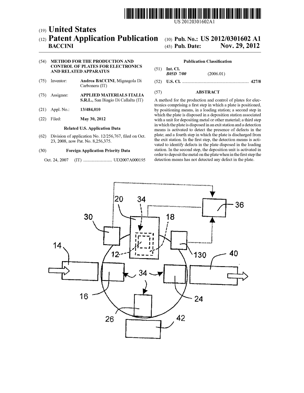 METHOD FOR THE PRODUCTION AND CONTROL OF PLATES FOR ELECTRONICS AND     RELATED APPARATUS - diagram, schematic, and image 01