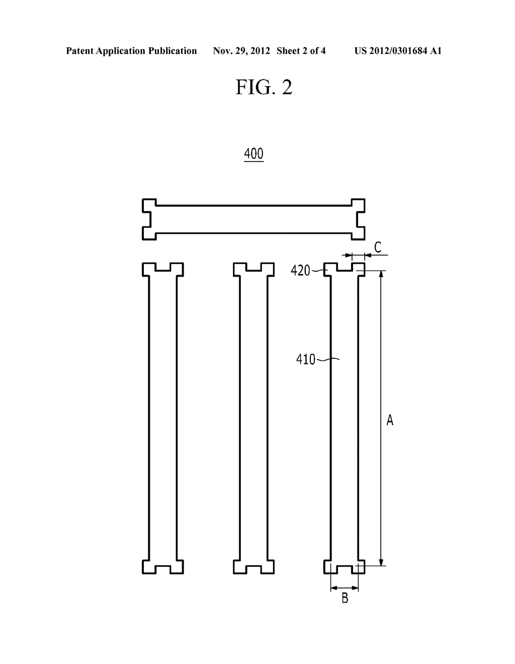 PHOTOSENSITIVE FILM PATTERN AND METHOD FOR MANUFACTURING A PHOTOSENSITIVE     FILM PATTERN - diagram, schematic, and image 03