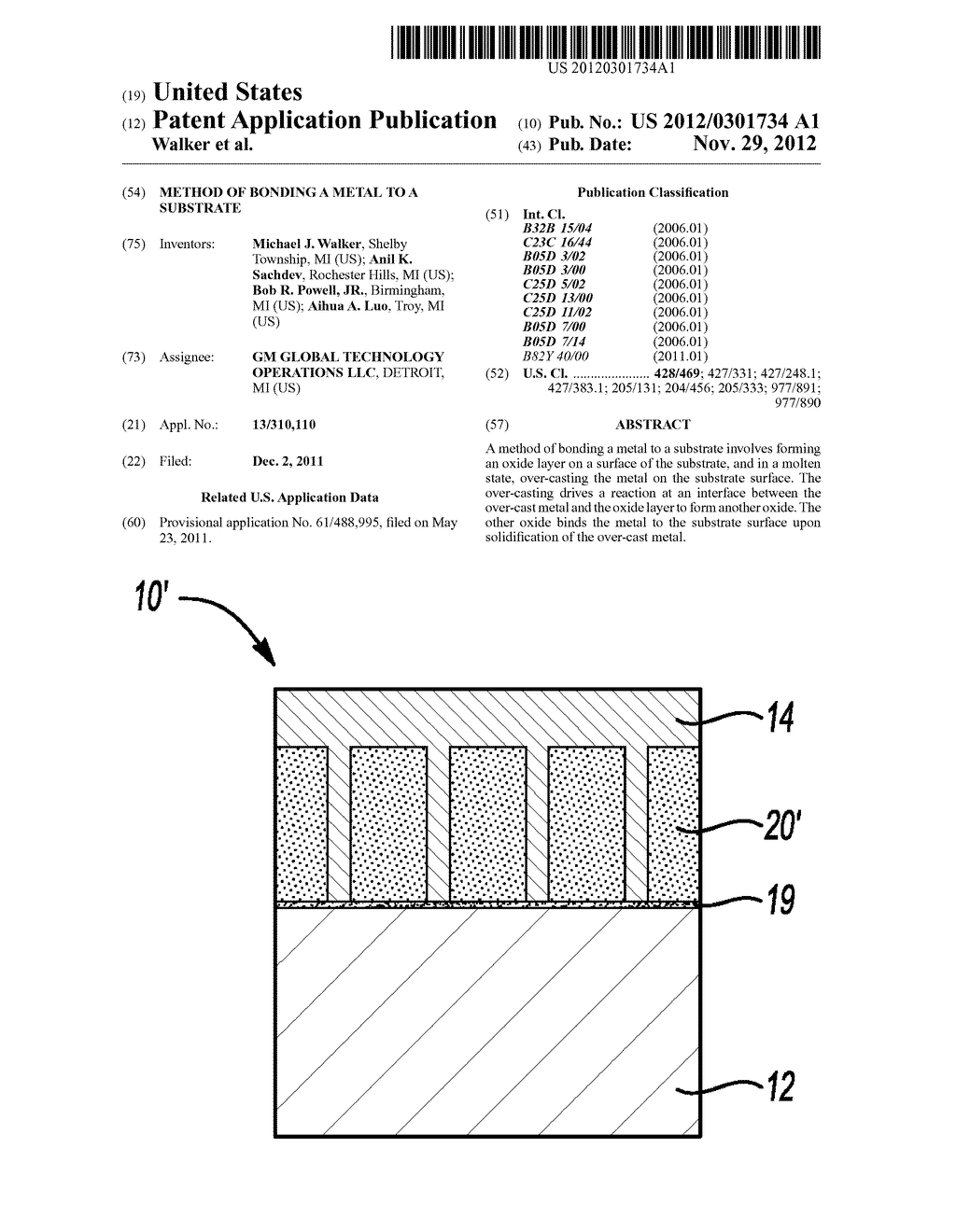 METHOD OF BONDING A METAL TO A SUBSTRATE - diagram, schematic, and image 01