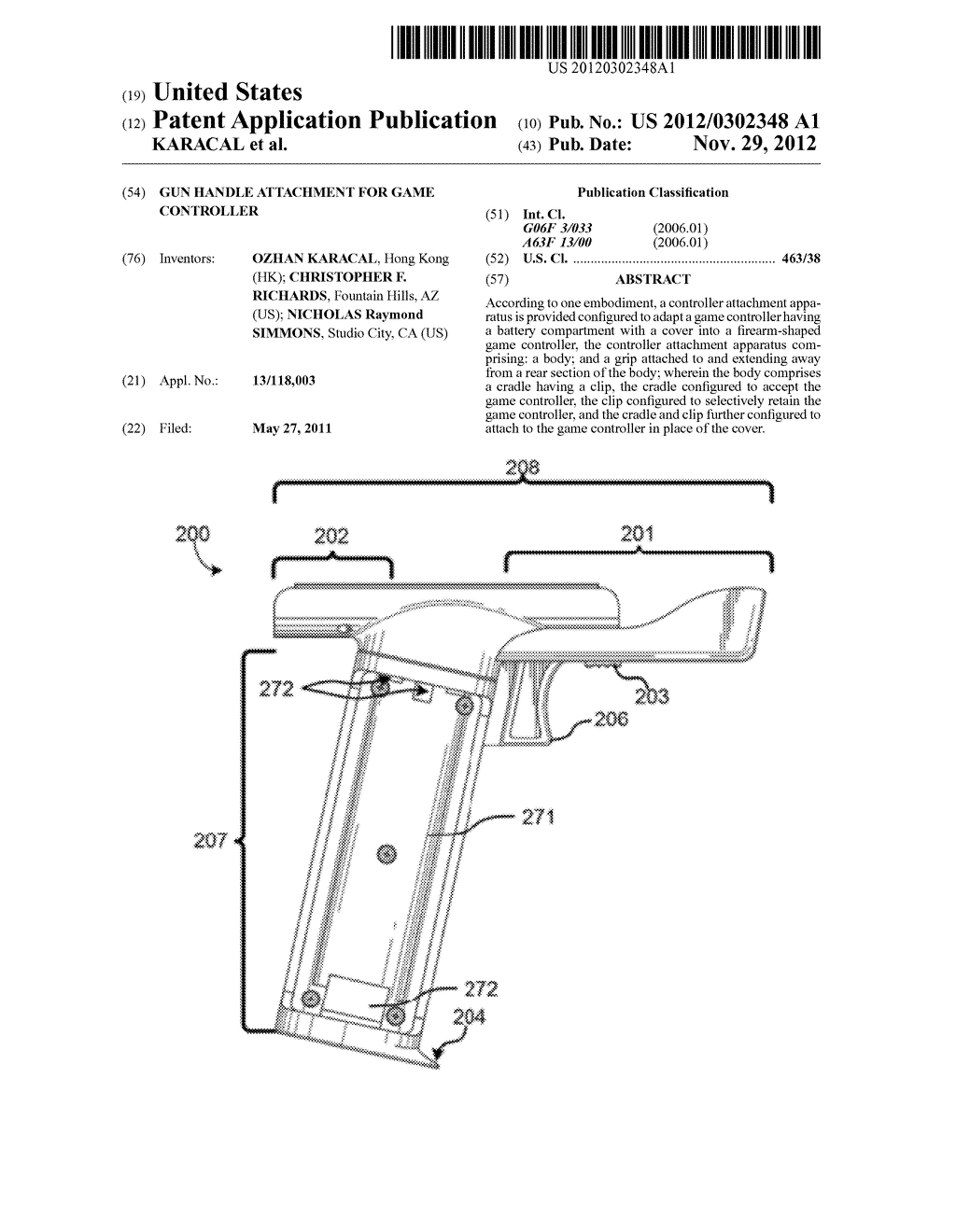 GUN HANDLE ATTACHMENT FOR GAME CONTROLLER - diagram, schematic, and image 01