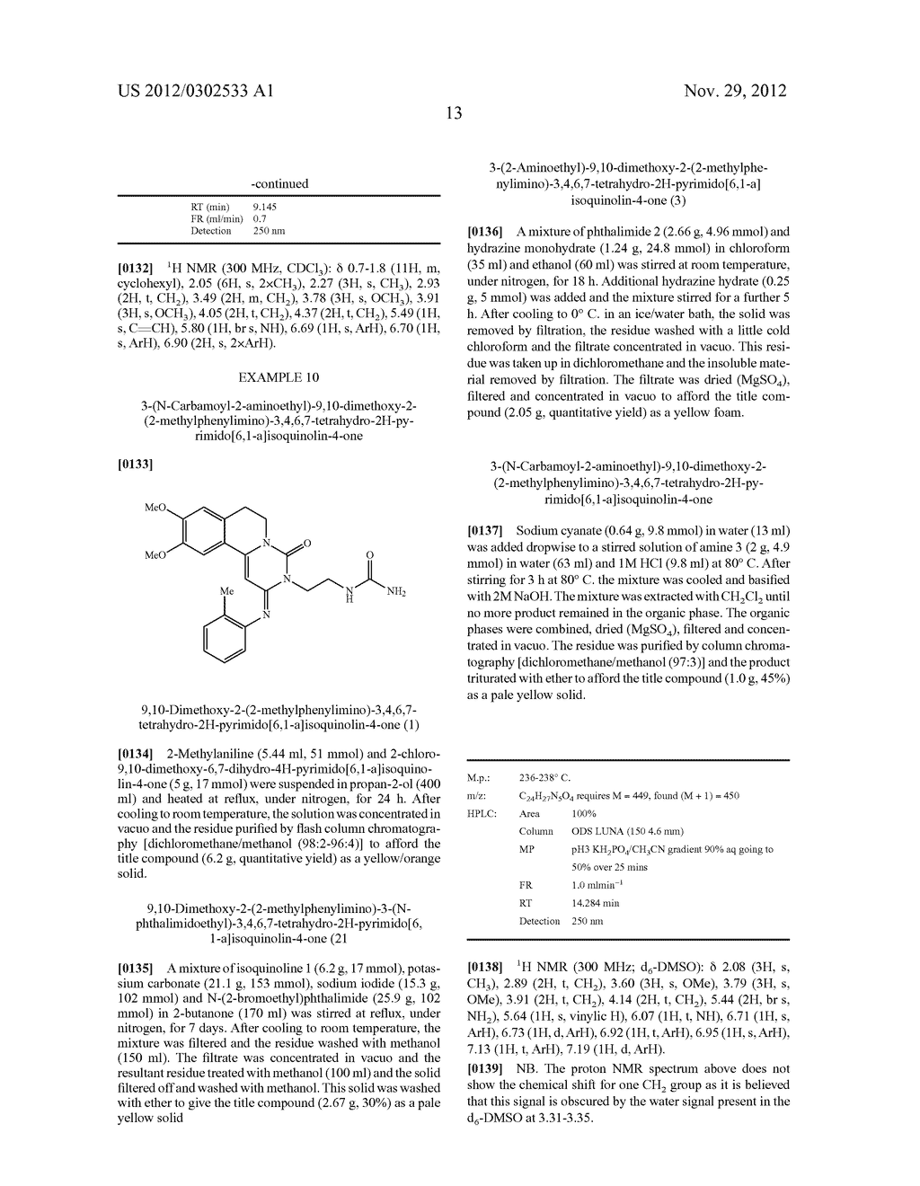 DERIVATIVES OF PYRIMIDO [6,1-A] ISOQUINOLIN-4-ONE - diagram, schematic, and image 19