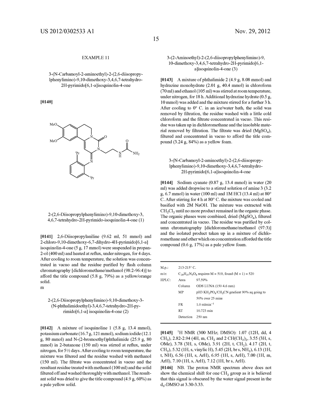 DERIVATIVES OF PYRIMIDO [6,1-A] ISOQUINOLIN-4-ONE - diagram, schematic, and image 21