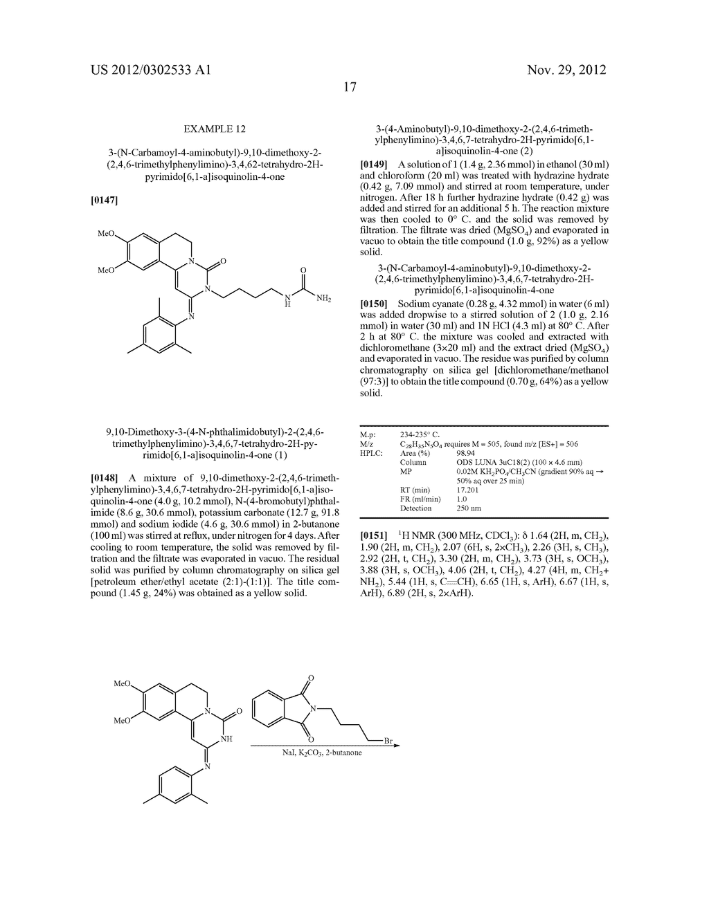 DERIVATIVES OF PYRIMIDO [6,1-A] ISOQUINOLIN-4-ONE - diagram, schematic, and image 23