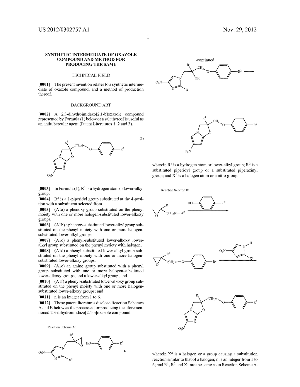 SYNTHETIC INTERMEDIATE OF OXAZOLE COMPOUND AND METHOD FOR PRODUCING THE     SAME - diagram, schematic, and image 02