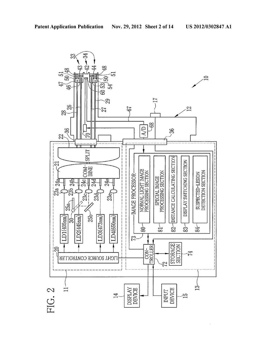 ENDOSCOPE SYSTEM AND METHOD FOR ASSISTING IN DIAGNOSTIC ENDOSCOPY - diagram, schematic, and image 03