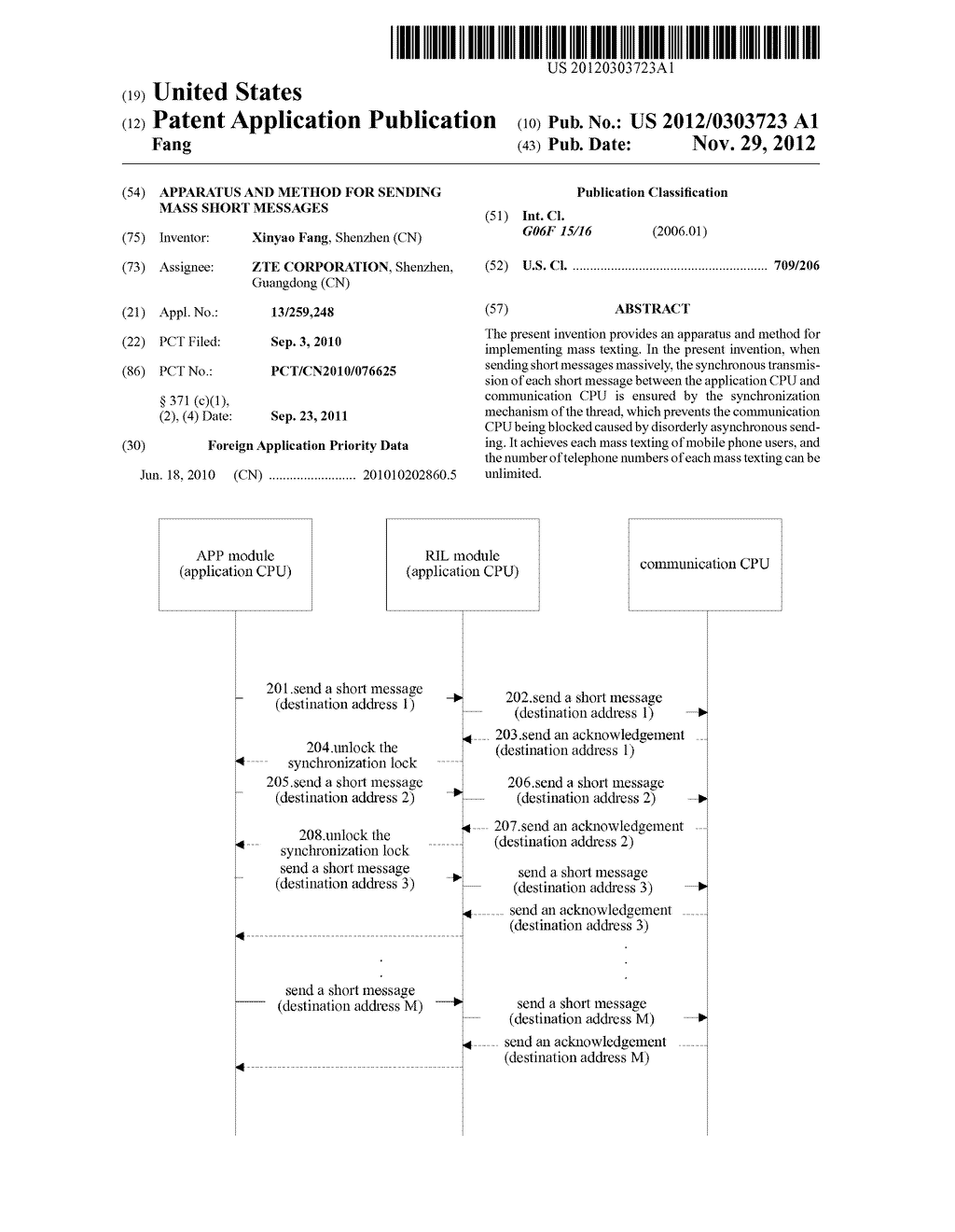 Apparatus and Method for Sending Mass Short Messages - diagram, schematic, and image 01