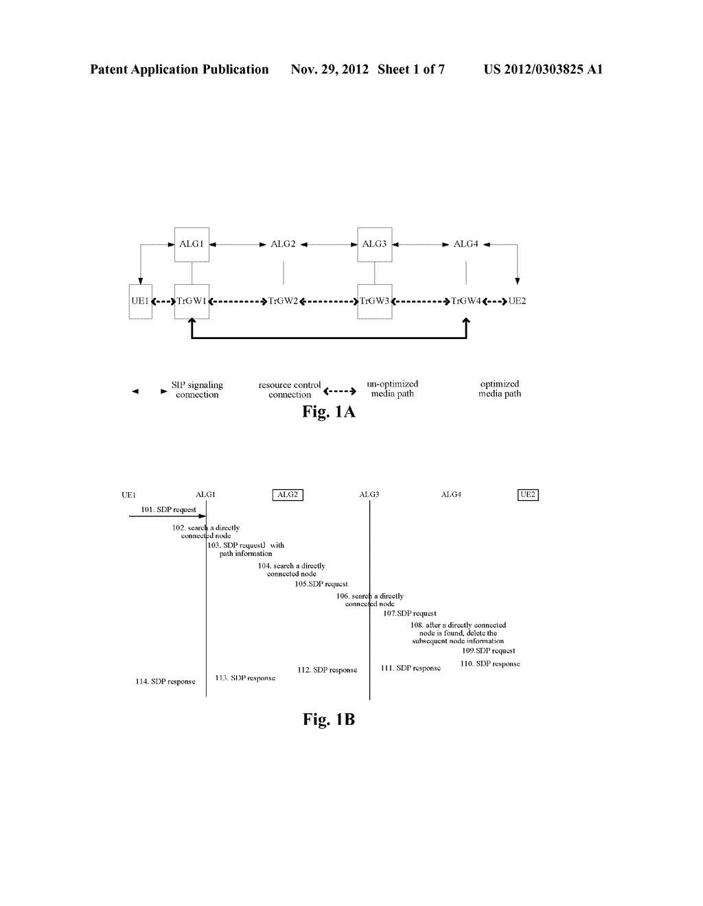 METHOD AND DEVICE CONFIGURED FOR PROCESSING AN SDP REQUEST IN A MEDIA PATH     OPTIMIZATION PROCESS - diagram, schematic, and image 02