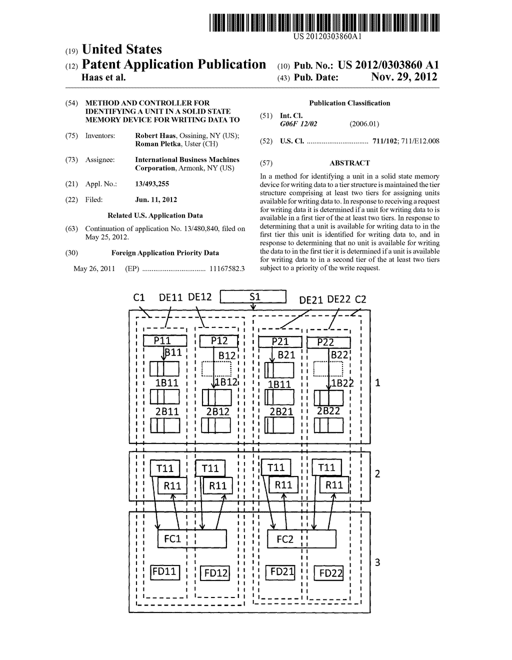 Method and Controller for Identifying a Unit in a Solid State Memory     Device for Writing Data To - diagram, schematic, and image 01