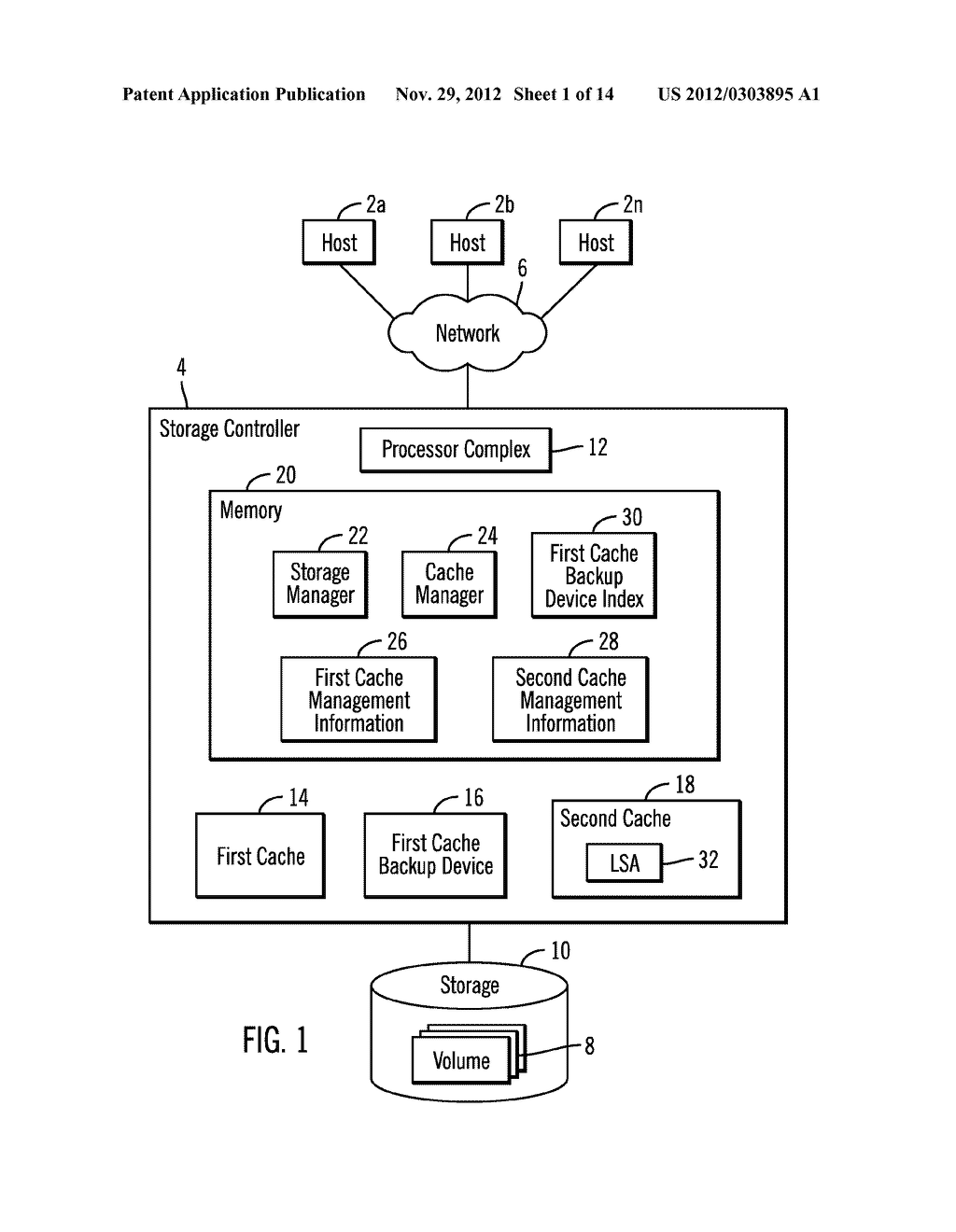 HANDLING HIGH PRIORITY REQUESTS IN A SEQUENTIAL ACCESS STORAGE DEVICE     HAVING A NON-VOLATILE STORAGE CACHE - diagram, schematic, and image 02