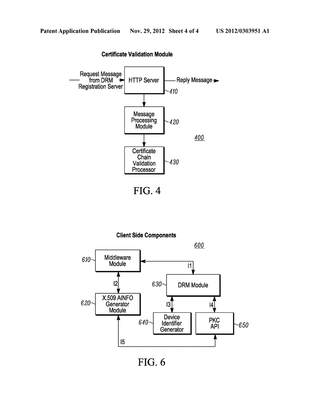 METHOD AND SYSTEM FOR REGISTERING A DRM CLIENT - diagram, schematic, and image 05
