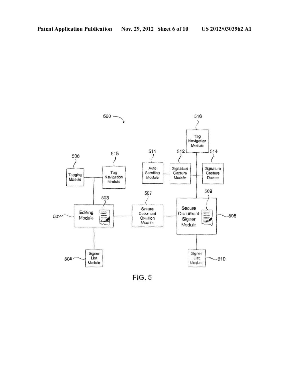 SYSTEM AND METHOD FOR EMBEDDING A WRITTEN SIGNATURE INTO A SECURE     ELECTRONIC DOCUMENT - diagram, schematic, and image 07