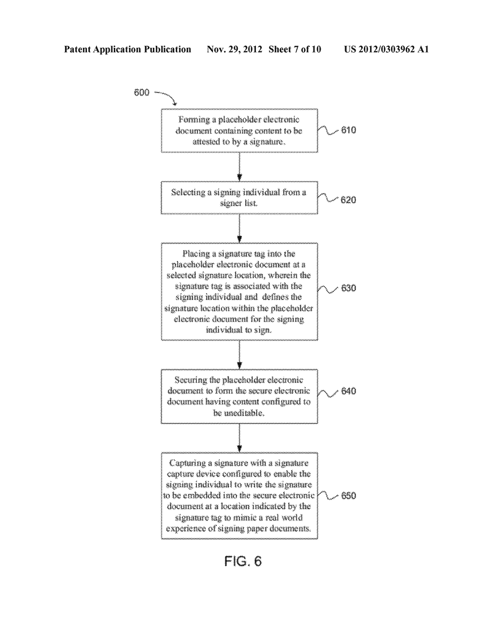 SYSTEM AND METHOD FOR EMBEDDING A WRITTEN SIGNATURE INTO A SECURE     ELECTRONIC DOCUMENT - diagram, schematic, and image 08