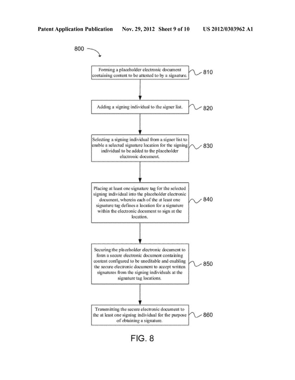 SYSTEM AND METHOD FOR EMBEDDING A WRITTEN SIGNATURE INTO A SECURE     ELECTRONIC DOCUMENT - diagram, schematic, and image 10