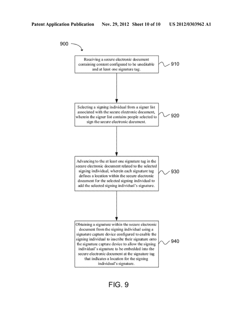 SYSTEM AND METHOD FOR EMBEDDING A WRITTEN SIGNATURE INTO A SECURE     ELECTRONIC DOCUMENT - diagram, schematic, and image 11