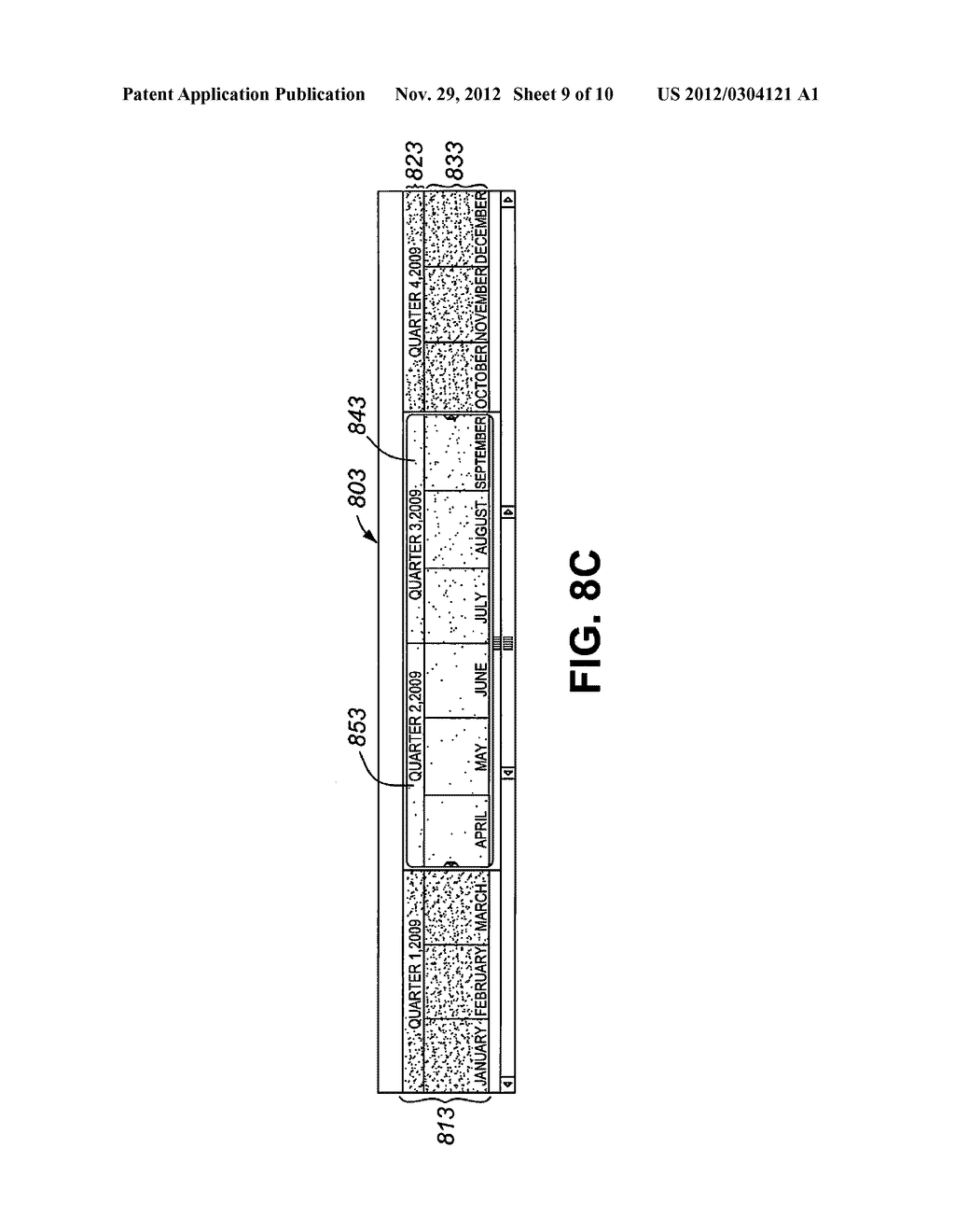 METHOD, PROCESSING DEVICE, AND ARTICLE OF MANUFACTURE FOR PROVIDING     INSTRUCTIONS FOR DISPLAYING TIME-DEPENDENT INFORMATION AND FOR ALLOWING     USER SELECTION OF TIME RANGES - diagram, schematic, and image 10